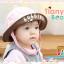 HT461••หมวกเด็ก•• / หมวกปีกกว้าง-bubbles (สีชมพูอ่อน) thumbnail 2