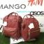 กระเป๋าเป้ Anello polyurethane leather rucksack Red Wine Mini thumbnail 9