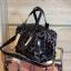 กระเป๋า David Jones กระเป๋าสะพายข้างดีไซน์เกร๋มาก สีดำเงาสวยหรูมาก ขนาดกะลังดีเลย thumbnail 3