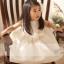 ชุดราตรีเด็กหญิง ลูกไม้ขาวแขนกุด มีโบว์ด้านหน้าและหลัง Size 90-120 thumbnail 5