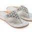 รองเท้าแตะหูหนีบไซส์เล็ก Desy Flower สีเทา KR0256 thumbnail 1