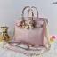 กระเป๋าทรงยอดฮิต สไตล์Birkin Crocodile Striped bag with accessories Available thumbnail 3