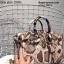กระเป๋าถือสะพายหนังแท้ สองขนาด ลายงานหนังวัวแท้ สีทูโทน (Leather100%) thumbnail 8