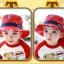 HT495••หมวกเด็ก•• / หมวกปีกกว้าง-บอลลูน (สีแดง) thumbnail 4