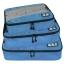 ชุดจัดกระเป๋าเดินทางคุณภาพดีมาก 3 ใบต่อชุด ใส่เสื้อ, กางเกง, กระโปรง, ผ้าขนหนู (Ecosusi 3 Set Packing Cubes - Travel Organizers) thumbnail 7