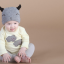 หมวกบีนนี่ หมวกเด็กสวมแบบแนบศีรษะ ลายหน้ายิ้ม (มี 5 สี) thumbnail 9