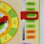 ของเล่นไม้เรียนรู้เวลา ตั้งแต่นาทีจนถึงฤดูกาลใน 1 ปี แบบปฏิทิน Wooden Daily Calendar Clock Board Toy thumbnail 10