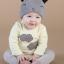 หมวกบีนนี่ หมวกเด็กสวมแบบแนบศีรษะ ลายหน้ายิ้ม (มี 5 สี) thumbnail 11