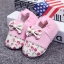 รองเท้าเด็กอ่อน ดอกไม้ประดับโบว์สีชมพู ผ้านิ่มมีกันลื่น วัย 0-12 เดือน thumbnail 1