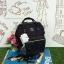 กระเป๋าเป้ Anello The emporium สีดำ (limited edition) ขนาดมินิ กำลังดี วัสดุผ้าแคนวาสสลับหนัง polyester thumbnail 1