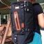 กระเป๋าเป้ WitzMan Nylon Travel Backpack Waterproof สีดำ thumbnail 2