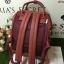 กระเป๋าเป้ Anello polyurethane leather rucksack Red Wine Mini thumbnail 4