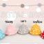 HT460••หมวกเด็ก•• / หมวกปีกกว้าง-bubbles (สีเทา) thumbnail 4