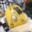 กระเป๋าสะพายเป้ ZARA Sturby Backpack With Zips 2017 สไตล์ PRADA สีเหลือง thumbnail 3