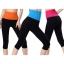 กางเกงออกกําลังกายผู้หญิง เลกกิ้งออกกำลังกาย ขา 5 ส่วน สีชมพู thumbnail 8