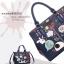 กระเป๋าถือหรือสะพาย แฟชั่น แบรนด์ Duolaimi วัสดุหนังpu อย่างดี พิมพ์ลาย สไตล์ KATE สวยอยู่ทรง ใส่เอกสารได้ thumbnail 5