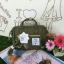 กระเป๋า Anello 2 Way Mini Boston Bag Khaki สะพายข้างลำตัว thumbnail 2