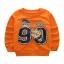 เสื้อกันหนาวเด็กเล็ก แขนยาว เนื้อนุ่ม สีส้ม สกรีนลายตัวเลข สำหรับเด็กวัย 1-3 ปี thumbnail 1