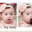 ผ้าคาดผมเด็กอ่อน ดอกไม้ลูกไม้สไตล์เกาหลี thumbnail 4
