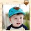 หมวกแก๊ป หมวกเด็กแบบมีปีกด้านหน้า ลายหมีสกรีนสามเหลี่ยม (มี 4 สี) thumbnail 6