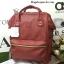 กระเป๋าเป้ Anello polyurethane leather rucksack Red Wine รุ่น Classic thumbnail 1