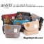 กระเป๋า ANELLO POLYESTER CANVAS SHOULDER BAG สีเทา thumbnail 7