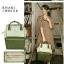 กระเป๋าเป้ Anello Polyester Canvas Rucksack Classic สีขาว-กรม วัสดุผ้าแคนวาสอย่างดี รุ่นคลาสสิกพิเศษมีซิปด้านหลัง thumbnail 8