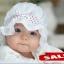 หมวกเด็กอ่อน เจ้าหญิงน้อย คาดโบว์จุด มีระบายบังแดด thumbnail 6