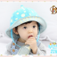 HT459••หมวกเด็ก•• / หมวกปีกกว้าง-bubbles (สีฟ้า) thumbnail 1