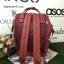กระเป๋าเป้ Anello polyurethane leather rucksack Red Wine รุ่น Classic thumbnail 3