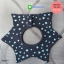 ผ้าซับน้ำลายเด็ก ผ้ากันเปื้อนเด็กเล็ก แบบ 360 องศา ปลายแฉก / ลายดาว (มี 2 สี) thumbnail 3