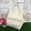 กระเป๋าเป้ Anello polyurethane Mini White thumbnail 1