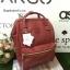 กระเป๋าเป้ Anello polyurethane leather rucksack Red Wine รุ่น Classic thumbnail 2