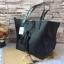 กระเป๋า MNG Shopper bag สีดำ กระเป๋าหนัง เชือกหนังผูกห้วยด้วยพู่เก๋ๆ!! จัดทรงได้ 2 แบบ thumbnail 2