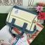 กระเป๋า Anello 2 Way Mini Boston Bag Twotone ขาวฟ้า สะพายข้างลำตัว thumbnail 2