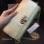 กระเป๋า CHARLE & KEITH TURN LOCK WALLET 2016 ใช้ถือหรือสะพายทรงคลัช ล่าสุดชนช็อป! วัสดุหนัง Saffiano สวยหรูสไตล์ PRADA thumbnail 10