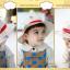 HT497••หมวกเด็ก•• / หมวกปีกกว้าง-บอลลูน (สีเบจ) thumbnail 5