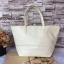 กระเป๋า MNG Shopper bag สีขาวครีม กระเป๋าหนัง เชือกหนังผูกห้วยด้วยพู่เก๋ๆ!! จัดทรงได้ 2 แบบ thumbnail 5
