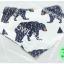 ผ้าซับน้ำลายสามเหลี่ยม ผ้ากันเปื้อนเด็ก [ผืนเล็ก] / Black Bear thumbnail 1