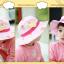 HT499••หมวกเด็ก•• / หมวกปีกกว้าง-บอลลูน (สีชมพู) thumbnail 5