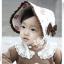 HT098••หมวกเด็ก•• / หมวกถังกุหลาบสีครีม thumbnail 2
