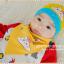 AP184••เซตหมวก+ผ้ากันเปื้อน•• / เมฆ [สีเหลือง] thumbnail 4