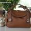กระเป๋าหนังแท้ ทรงฮิต Lindy 26cm สีน้ำตาล Silver material Coated Leather หนังลูกวัวแท้100% งานคุณภาพไฮเอน thumbnail 8