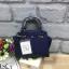 LYN Madison Bag สีน้ำเงิน กระเป๋าถือหรือสะพายทรงสวย รุ่นใหม่ล่าสุด วัสดุหนัง Saffiano thumbnail 1