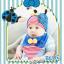 AP098••เซตหมวก+ผ้ากันเปื้อน•• / [สีน้ำเงิน] เต่าทอง thumbnail 1