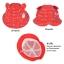 HT467••หมวกเด็ก•• / หมวกปีกกว้าง-นานาผัก (สีแดง) thumbnail 3