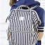 กระเป๋า Anello Casual Fabric Square Shaped Rucksack Stripe Navy Blue thumbnail 6