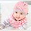 เซตหมวก+ผ้าซับน้ำลาย / ลาย Lovely Baby (มี 6 สี) thumbnail 19