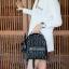 KEEP genuine Leather Mini Chic Backpack Classy Black #ใบนี้หนังแท้เลยค่ะ thumbnail 10