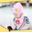 AP109••เซตหมวก+ผ้ากันเปื้อน•• / [สีชมพูอ่อน] น้องหมี thumbnail 4